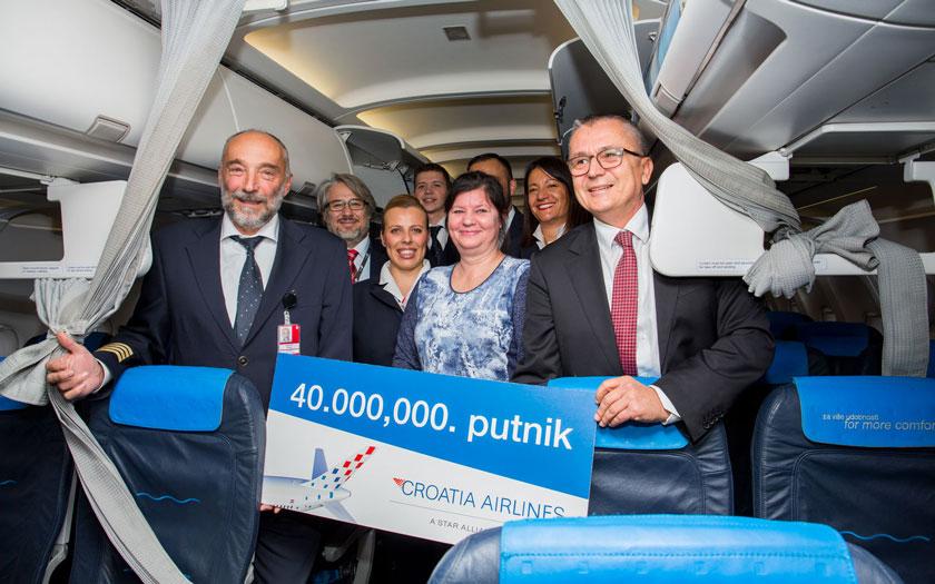 Croatia Airlines, jubilarna putnica