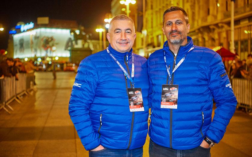 Marin Frčko, dopredsjednik organizacijskog odbora Croatia Rallyja i Daniel Šaškin