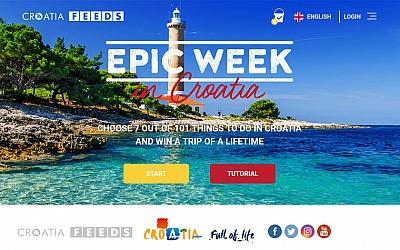 """Nova promotivna kampanja Hrvatske turističke zajednice - """"Epic Week"""""""