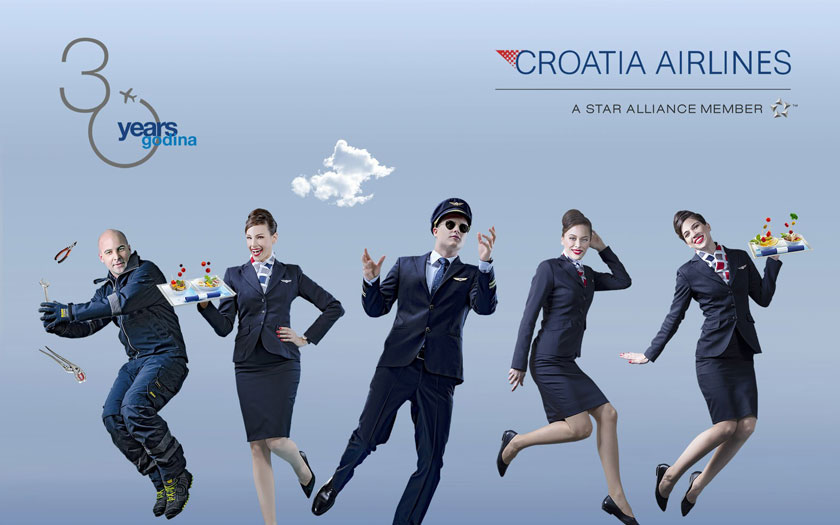 Rođendanski vizual Croatia Airlinesa