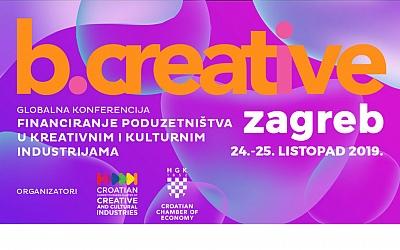 b.creative konferencija u Zagrebu okuplja kulturne i kreativne profesionalce iz cijelog svijeta
