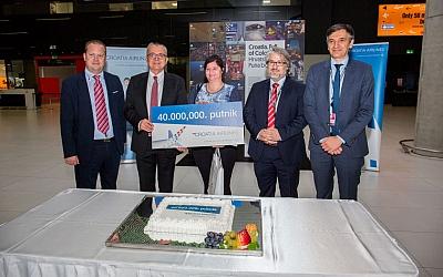 Četrdesetmilijunti putnik u povijesti Croatia Airlinesa