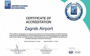 Zagrebačka zračna luka stekla certifikat sigurnosti u uvjetima pandemije COVID-19