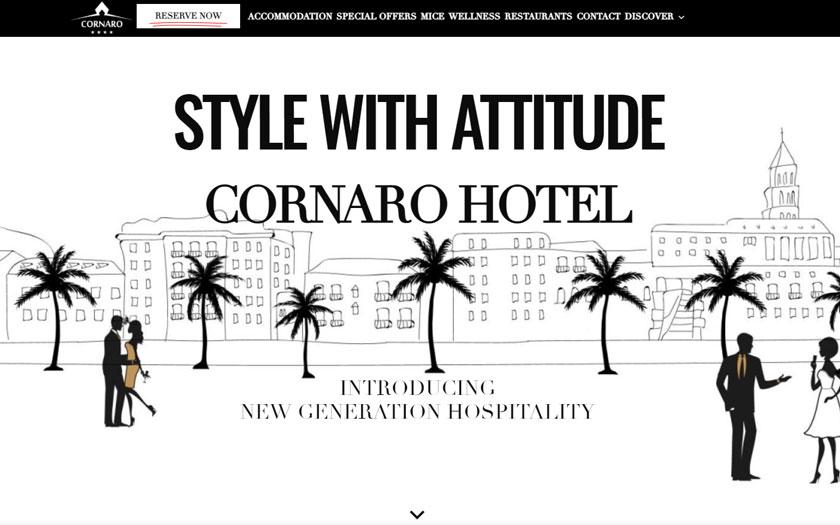 Cornaro hotel - web stranica