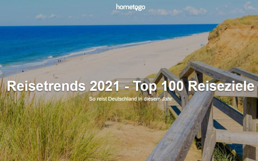 HomeToGO Reisetrends 2021